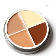 Type: Concealer Use: Face Benefit: Oil-control,Brighten,Concealer,Natural Quantity: 4 Colors/Palette Ingredient: Mineral Size: Full Size NET WT: 12 Skin Type: All Skin Types Formulation: Cream Model Number: Cream Contour, Contour Kit, Contour Palette, Concealer, Facial, Makeup, Cover, Make Up, Facial Treatment