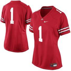 Ohio State Buckeyes Ladies #1 Football Jersey
