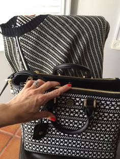08d8763ba74 The newest addition to my collection Tory Burch Robinson Woven Square  Tote...❤