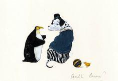 Illustration originale de Carll Cneut - Le poussin jaune | Oeuvres | Galerie Robillard