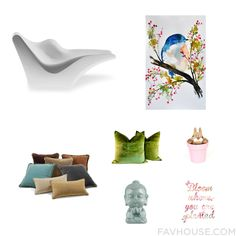 Home Decor Wish List Including Driade Outdoor Loungers & Day Bed Water Colour Painting Throw Pillow And Green Toss Pillow From March 2016 #home #decor