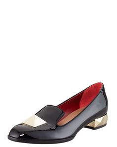 Rockstud Patent Leather Loafer by Valentino at Bergdorf Goodman.