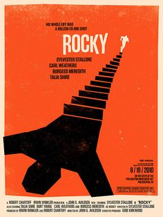 Rocky Poster design by Saul Bass Poster Series, Movie Poster Art, Film Posters, Tour Posters, Best Posters, Space Posters, Awesome Posters, Art Series, Poster On