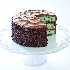 Our recipe for Mint Chocolate Chip Cake from the Cook's Country Fair: Frosted Layer Cake Competition.