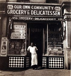 Our Community Grocery, Harlem, Photo by Aaron Siskind. Dance Hip Hop, Aaron Siskind, Old Country Stores, African American History, American Art, Vintage Pictures, Vintage Images, Vintage Photography, Street Photography