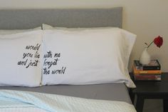 Oh, Susannah couples pillow cases Would You Lie With Me And Just Forget The World Wedding Gift His and Hers #Pillow Couples Pillow Cases