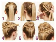 One of the easy hairstyles that we learn from our childhood, are the Hairstyles with braids. Here is a complete gude for braid hair styles Easy Winter Hairstyles, Easy Updo Hairstyles, Baby Girl Hairstyles, Elegant Hairstyles, Wedding Hairstyles, Elegant Ponytail, Girls Braids, Hair Images, Hair Dos