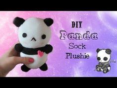 DIY Kawaii Panda Sock Plushie Tutorial