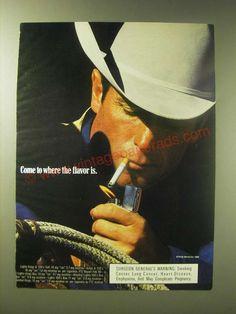 1989 Marlboro Cigarettes Ad - Come to where the flavor is-This is a 1989 ad for a Marlboro Cigarettes! The size of the ad is approximately Marlboro Red, Cutting Horses, Marlboro Cigarette, Man Smoking, Vintage Ads, Picture Photo, 1980s, Childhood, Advertising
