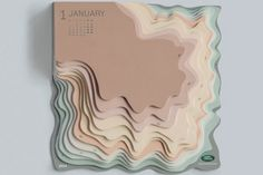 """Art director Zeynep Orbay of TBWA Istanbul created this amazing topographic calendar for Land Rover. """"We designed a daily 2014 calendar that reflects the off-road… Web Design, Layout Design, Design Art, Print Design, Design Trends, Kirigami, Kalender Design, Paper Art, Paper Crafts"""