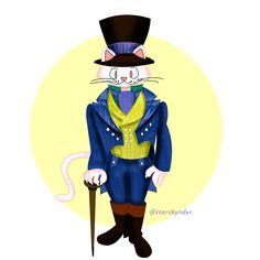 Regency Cat in boots #cat #catinboots #fairytale #illustration #art #artwork