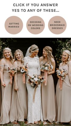 Beige Wedding, Boho Wedding, Wedding Colors, Dream Wedding, Wedding Day, Wedding Styles, Bridesmaid Dress Colors, Wedding Bridesmaid Dresses, Bridesmaid Bouquet