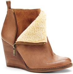 Yorque Wedge Bootie - 7 Stylish Wedge Booties  http://toyastales.blogspot.com/2014/11/november-finds-7-stylish-wedge-booties.html