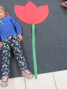 Is the flower taller than you? Great measurement activity for young children, maybe use a hammer for our tool theme