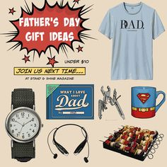 Stand & Shine Magazine: Father's Day Gift Ideas Under $10 I Love My Dad, Fathers Day Gifts, Magazine, Gift Ideas, Holidays, Create, Women, Love My Dad, Holidays Events
