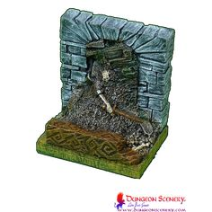 Dungeon Scenery is modular terrain for board games, wargames, RPG, D&D Dungeons And Dragons, Board Games, Bones, Scenery, Miniatures, Amazing, Role Playing Board Games, Paisajes, Tabletop Games