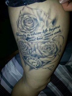 rose tattoos for dad - Google Search