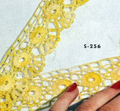 Pillow Case Edging & Insertion crochet pattern from Edgings for All Purposes, Clark's O.N.T. J Coats, Book No. 288, in 1952.