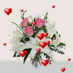 Image Blog, Types Of Flowers, Beautiful Roses, Happy Mothers Day, Floral Wreath, Lily, Animation, Gifts, Blessing