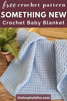 Crochet Newborn Blanket, Double Crochet Baby Blanket, Crochet Baby Blanket Tutorial, Crochet Square Blanket, Baby Afghan Crochet, Manta Crochet, Baby Afghans, Baby Blankets, Free Baby Blanket Patterns