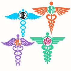 Caduceus Medical Symbol Round Circle Frames Monogram Cuttable Design Cut File. Vector, Clipart, Digital Scrapbooking Download, Available in JPEG, PDF, EPS, DXF and SVG. Works with Cricut, Design Space, Sure Cuts A Lot, Make the Cut!, Inkscape, CorelDraw, Adobe Illustrator, Silhouette Cameo, Brother ScanNCut and other compatible software.