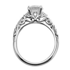 "Artcarved ""Peyton"" Diamond Engagement Ring with Round Center Featuring Side Diamonds · 31-V284FRW · Ben Garelick Jewelers"