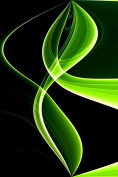 Neon Green Swirl