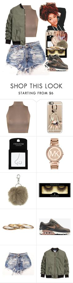 """Untitled #21"" by thaofficialtrillqueen ❤ liked on Polyvore featuring WearAll, Casetify, Topshop, Michael Kors, The White Company, Illamasqua and NIKE"