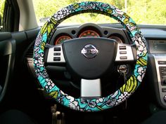 Vera Bradley Steering Wheel Cover by mammajane on Etsy, $24.00....maybe there would be a cute clearance one?
