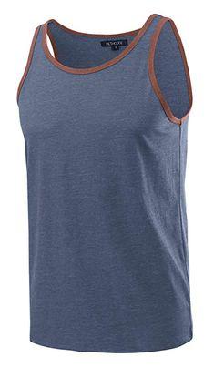15b1a8c801de7 Amazon.com  HETHCODE Men s Classic Basic Athletic Jersey Tank Top Casual T  Shirts  Clothing