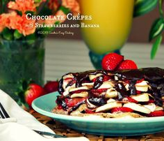 Sandra's Easy Cooking: Chocolate Crêpes filled with Strawberries and Bananas @Sandra @SECooking