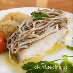Con esta receta de merluza con gulas se puede preparar cualquier lomo de pescado blanco a tu gusto, mero, rosada, bacalao fresco...