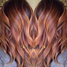 * Honey Carmel blend by @paintedhair