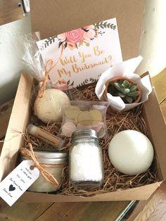 5 bridesmaids proposal, DIY kits, bridesmaids proposal gifts, bridesmaid proposal by BellaLaceCreations on Etsy https://www.etsy.com/listing/485673612/5-bridesmaids-proposal-diy-kits
