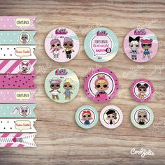 Baby Shower, Create, Birthday, Party, Vestidos, Birthday Outfits, Lol Dolls, Wrapping, Printables