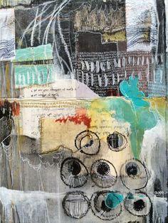 terrains - journal spread - by bun // artist: roxanne coble