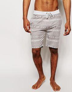 ASOS Loungewear Jersey Shorts With Aztec Print
