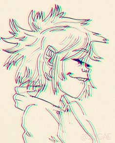 "2dgae: ""noodle doodle (sorry for the ruined quality lol) """