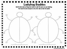 The Lesson Plan Diva: Freebie! Ladybug Doubles with Bingo Markers! First Grade Activities, 1st Grade Math, Math Activities, Grade 1, Preschool Math, Preschool Ideas, Math Doubles, Doubles Facts, Math Addition