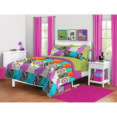 colorful, bright honestly would not live in this room but for some other taste it would fit perfect so i kinda like it and kinda not
