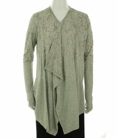 Calvin Klein Jeans Open Front Fashion Jacket Light Grey Heather M Calvin Klein. $49.03