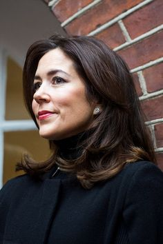 Crown Princess Mary of Denmark looks chic in black as attends a charity engagement in Copenhagen