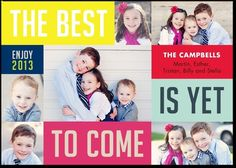 We love this unique New Year's card...the best is yet to come!