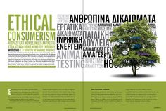 46 ethical 800 IN Business Magazine Spreads Brochure Layout, Brochure Design, Editorial Layout, Editorial Design, Magazine Layout Design, Magazine Layouts, Magazine Examples, Yearbook Design, Yearbook Ideas
