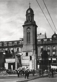 Demolición de la Iglesia de San Nicolás de Bari./Archivo General de la Nación Bari, Tango, Empire State Building, Real Madrid, Old World, America, Architecture, Places, Travel