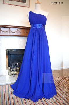 Royal Blue Chiffon Party Wedding Bridesmaid Dress 8-20 | eBay
