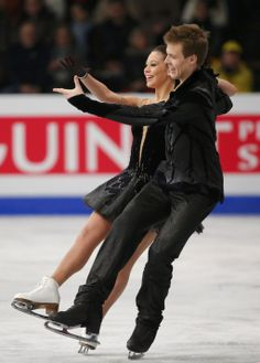 Ilinykh and Katsalapov of Russia perform the Ice Dance Free Dance at the ISU European Figure Skating Championships in Budapest