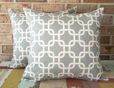 Warm Gray geometric pillow covers @sewgracious on #etsy