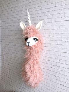 Harper llamacorn Faux Taxidermy  Llama unicorn  by SwankyEgg