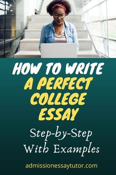 Do you know the secret ingredient to writing an outstanding college application essay? Here you will find answers to all your college admissions essay questions, including a step-by-step workshop tutorial with examples to teach you how to write the perfect college essay to get you into the school of your choice. #CollegeAdmissionsEssayExamples #howtowriteacollegeEssay #PersonalStatementExamples College Admission Essay, College Essay, High School Writing Prompts, Apply For College, College Application Essay, College Search, College Planning, Essay Writer, Essay Questions